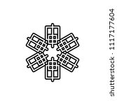 snow  ice icon vector template | Shutterstock .eps vector #1117177604