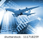 image of a plane against... | Shutterstock . vector #111718259