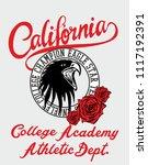 california eagle graphic design ... | Shutterstock .eps vector #1117192391