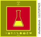 test tube symbol icon | Shutterstock .eps vector #1117197425
