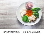 clean food for  health... | Shutterstock . vector #1117198685