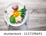 clean food for  health... | Shutterstock . vector #1117198691
