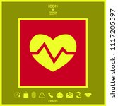 heart medical icon | Shutterstock .eps vector #1117205597