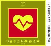 heart medical icon   Shutterstock .eps vector #1117205597
