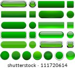 set of blank green buttons for...