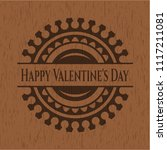 happy valentine's day wooden... | Shutterstock .eps vector #1117211081