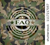 faq written on a camouflage...   Shutterstock .eps vector #1117217057