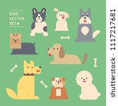 a variety of dog breeds. flat... | Shutterstock .eps vector #1117217681