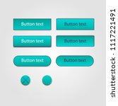 web elements vector button set