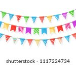 banner with garland of colour... | Shutterstock .eps vector #1117224734