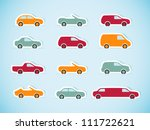 set of paper cars. vector... | Shutterstock .eps vector #111722621