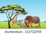 Illustration Of African Animal...