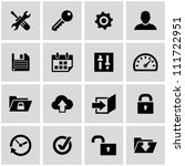 settings icons set. | Shutterstock .eps vector #111722951