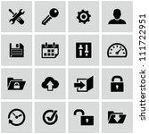settings icons set. | Shutterstock .eps vector #111722951
