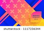 hipster modern geometric... | Shutterstock .eps vector #1117236344