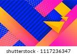 hipster modern geometric... | Shutterstock .eps vector #1117236347