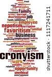 cronyism word cloud concept.... | Shutterstock .eps vector #1117241711