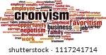 cronyism word cloud concept....   Shutterstock .eps vector #1117241714