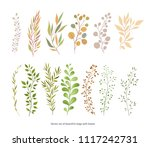 handdrawn vector watercolour... | Shutterstock .eps vector #1117242731