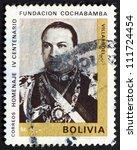 bolivia   circa 1968  a stamp... | Shutterstock . vector #111724454