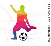 soccer player colorful on white ... | Shutterstock .eps vector #1117247561