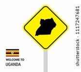 uganda traffic signs board... | Shutterstock .eps vector #1117247681