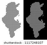 vector rhombus dot tunisia map. ... | Shutterstock .eps vector #1117248107