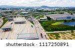 aerial view of hightway to... | Shutterstock . vector #1117250891