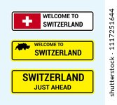 switzerland traffic signs board ... | Shutterstock .eps vector #1117251644