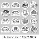 vector set of circle bakery... | Shutterstock .eps vector #1117254005