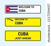 cuba traffic signs board design ... | Shutterstock .eps vector #1117254437