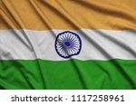 india flag  is depicted on a...   Shutterstock . vector #1117258961