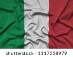 italy flag  is depicted on a...   Shutterstock . vector #1117258979