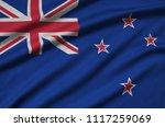 new zealand flag  is depicted...   Shutterstock . vector #1117259069
