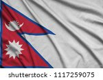nepal flag  is depicted on a...   Shutterstock . vector #1117259075