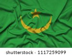 mauritania flag  is depicted on ...   Shutterstock . vector #1117259099