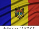 moldova flag  is depicted on a...   Shutterstock . vector #1117259111