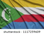 comoros flag  is depicted on a...   Shutterstock . vector #1117259609
