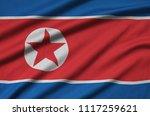 north korea flag  is depicted...   Shutterstock . vector #1117259621