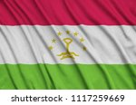 tajikistan flag  is depicted on ...   Shutterstock . vector #1117259669