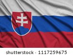 slovakia flag  is depicted on a ...   Shutterstock . vector #1117259675