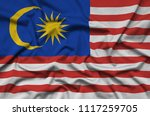 malaysia flag  is depicted on a ...   Shutterstock . vector #1117259705