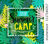 summer camp 2018 with handdrawn ... | Shutterstock .eps vector #1117260317