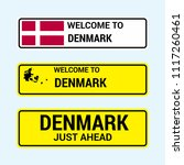 denmark traffic signs board... | Shutterstock .eps vector #1117260461