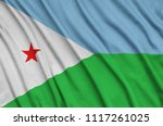 djibouti flag  is depicted on a ...   Shutterstock . vector #1117261025