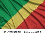 congo flag  is depicted on a...   Shutterstock . vector #1117261055