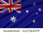 australia flag  is depicted on...   Shutterstock . vector #1117261079