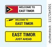 east timor traffic signs board... | Shutterstock .eps vector #1117264301