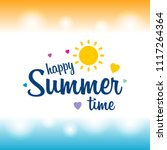 happy summer greetings card... | Shutterstock .eps vector #1117264364