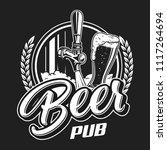 vintage beer pub logotype... | Shutterstock .eps vector #1117264694